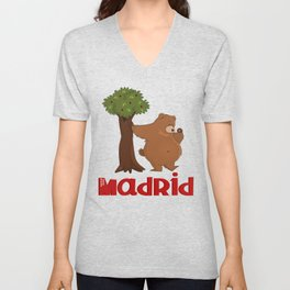 MADRID: Bear and Madrono (v.2) Unisex V-Neck