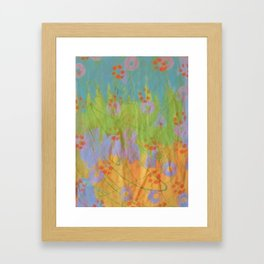 Green Scribble by Sharon Crumley Framed Art Print