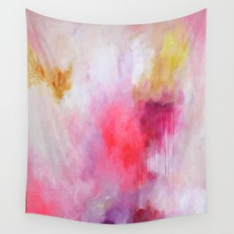 Blush Song #1 Original Painting by Rachael Rice Wall Tapestry