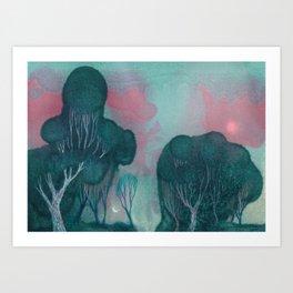 Deep Teal Art Print