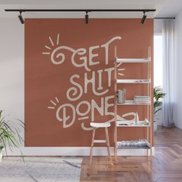 Get Shit Done motivational typography poster bedroom wall home decor Wall Mural