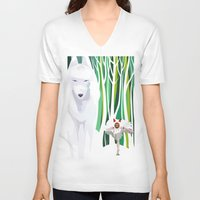 princess mononoke V-neck T-shirts featuring Princess Mononoke by youcoucou