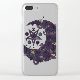 The Dark Moon Compels You to Fuck Shit Up Clear iPhone Case