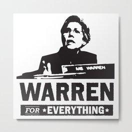Elizabeth Warren for EVERYTHING Metal Print