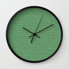 Best Movies Ever Wall Clock