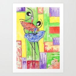 Ballet Sister's Art Print
