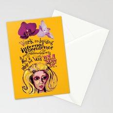 Relationship: Pink & Orange  Stationery Cards