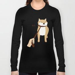 Cute Shiba Inu Shirt Nope Long Sleeve T-shirt