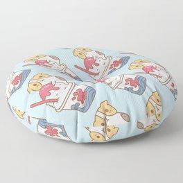 Guinea pig with kakigori Japanese shaved ice Floor Pillow