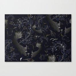 Navy blue. Deep sea blues Canvas Print