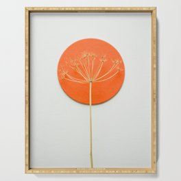 Orange circle and dried flower Serving Tray