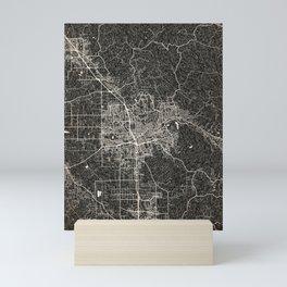 Santa Rosa map California Ink lines 2 Mini Art Print