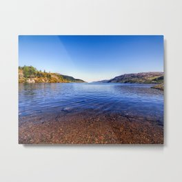 Shore of Loch Ness Metal Print