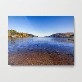 Shore of Loch Ness Metal Print