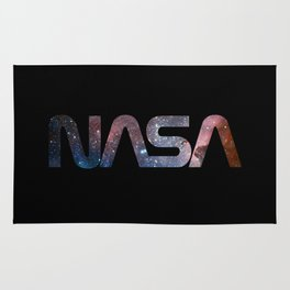 NASA font Rug