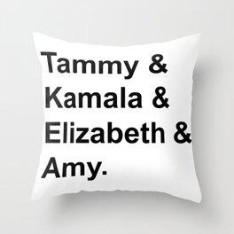 Women Senators Throw Pillow