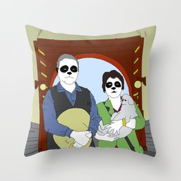 A Visit To The Forbidden City Throw Pillow