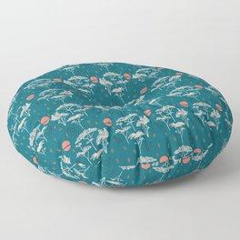 Mongolia Sunset Forest Floor Pillow