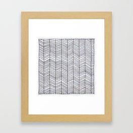 scribble doodle pattern Framed Art Print