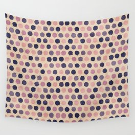 Watercolor funky retro pattern Wall Tapestry