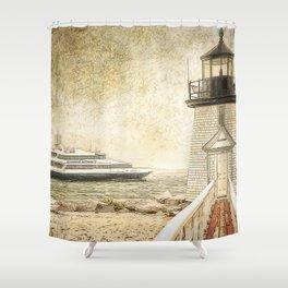 Brant Light Nantucket Shower Curtain