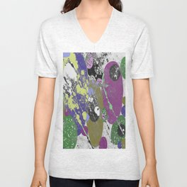 Gather Together - Abstract, pastel coloured, textured, artwork Unisex V-Neck