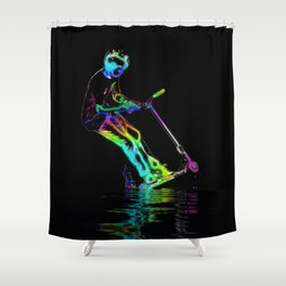 Puddle Jumping - Scooter Boy Shower Curtain