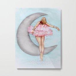 Ballerina in Pink Tutu Metal Print