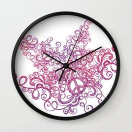 Peace swirl Wall Clock