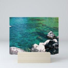 Sand Harbor Waters. Lake Tahoe in Winter. USA Mini Art Print