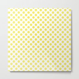 Yellow Small Polka Dots Metal Print