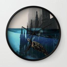 City under water Wall Clock