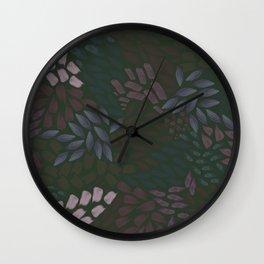 Petal Pattern in Dusk Wall Clock