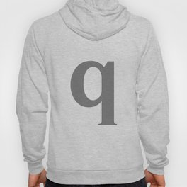 q (GRAY & WHITE LETTERS) Hoody