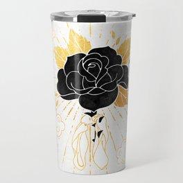 Black Rose Inktober :: Your Psyche Travel Mug