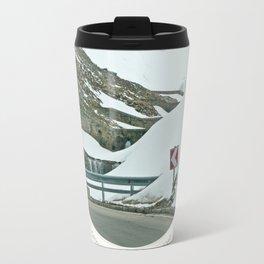 Alpine winter drive Travel Mug