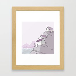 Some houses Framed Art Print