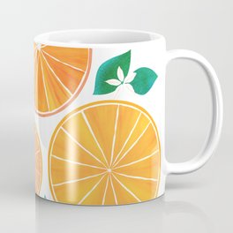 Orange Slices With Blossoms Coffee Mug