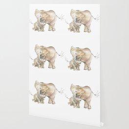 Mother's Love - Elephant Family Wallpaper