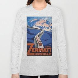 Vintage poster - Zermatt Long Sleeve T-shirt