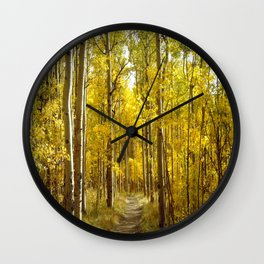 May the Trail be Your Guide Wall Clock