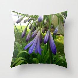 Purple Agapanthus Throw Pillow