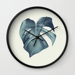 Monstera Leaf #1 #tropical #decor #art #society6 Wall Clock