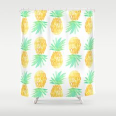 Salty Pineapple Shower Curtain