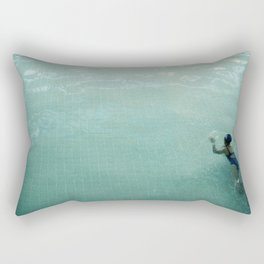 Lady in Swimming Pool 2 Rectangular Pillow