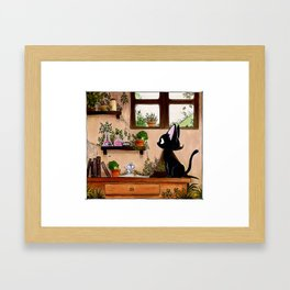 Suie and mouse Framed Art Print