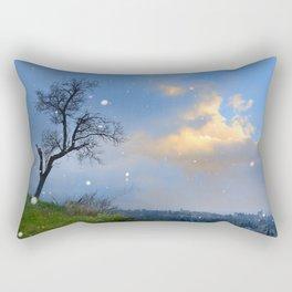 Snowstorm at the Alhambra at sunset Rectangular Pillow