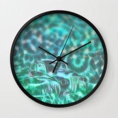 Underwater wreck Wall Clock