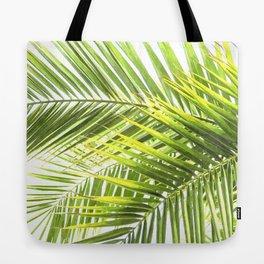 Palm leaves tropical illustration Tote Bag