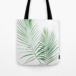 Twin Tropical Palm Fronds - Emerald Green Tote Bag